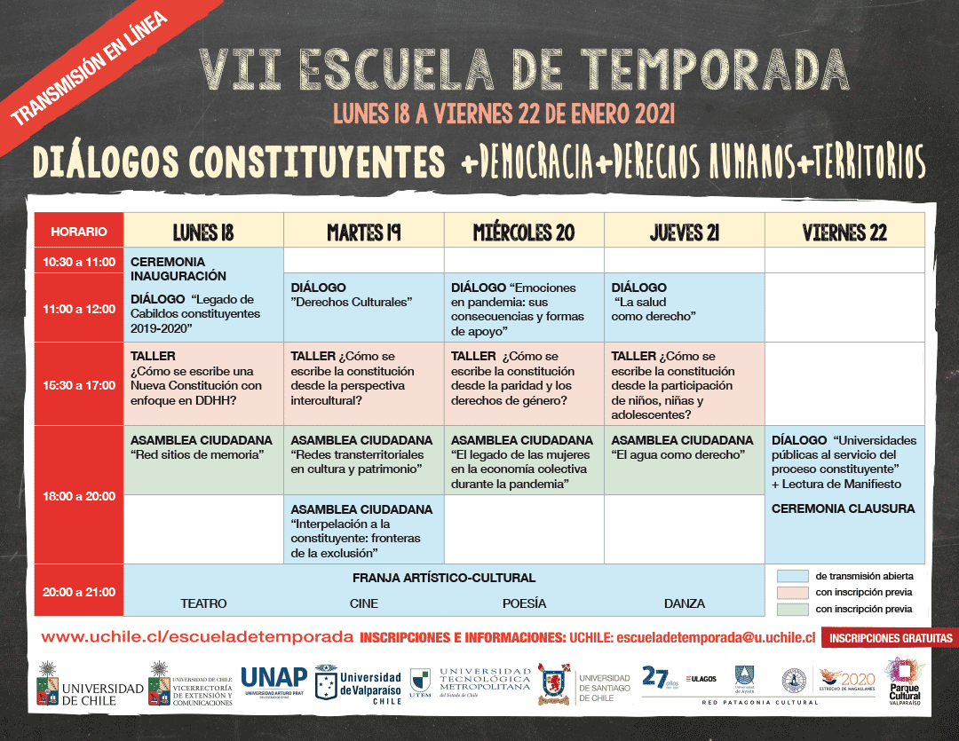 Red Patagonia Cultural participará en Escuela de Temporada virtual sobre proceso constituyente