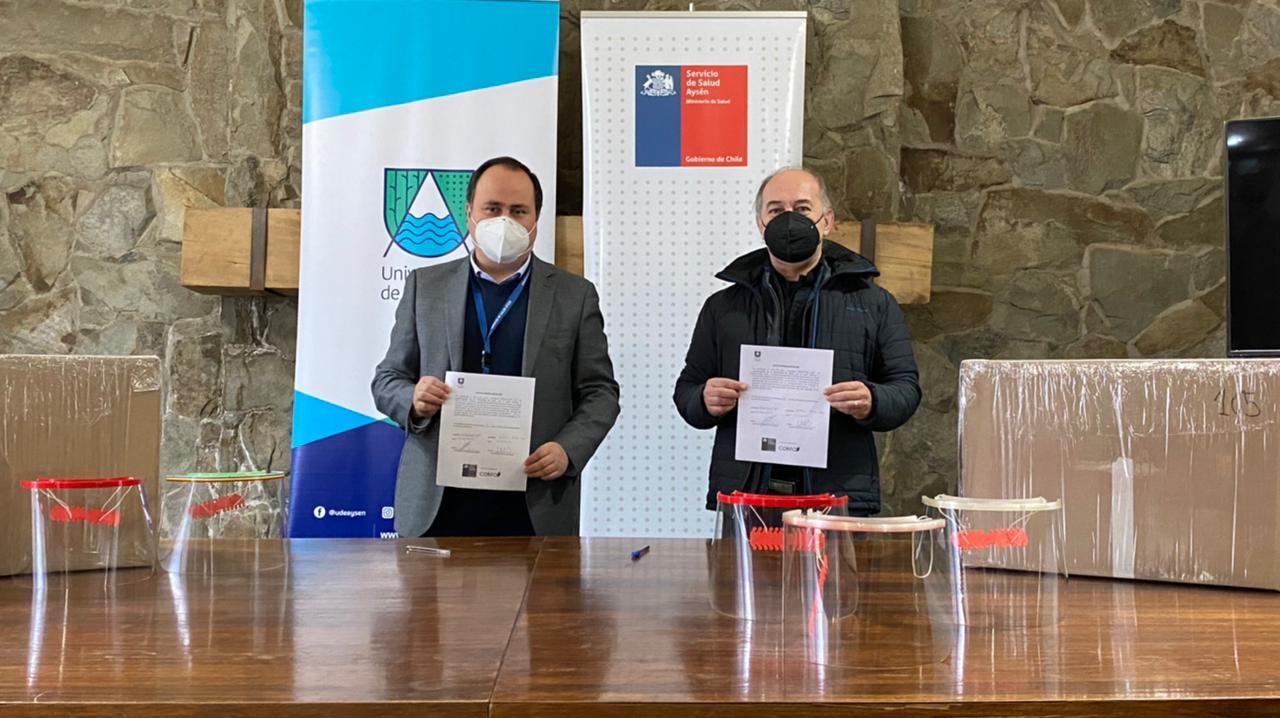 Fablab de la UAysén entregó 2.000 escudos faciales a distintas instituciones de la región